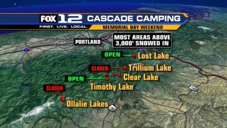 "Only a Few of the ""Main"" Cascade Lakes Open This Weekend"