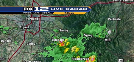 First Thunderstorm Approaching Estacada Today