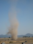 A viewer caught this photo of a large dust devil just west of I-5 in July 2009.