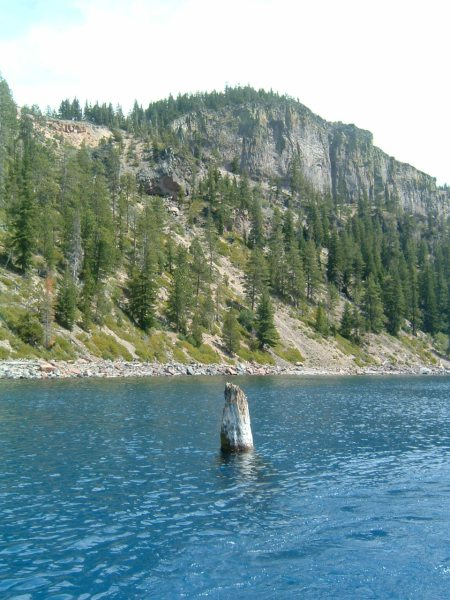 """Finally, after about 30 years, I took the boat tour.  We found the """"Old Man of the Lake""""!"""