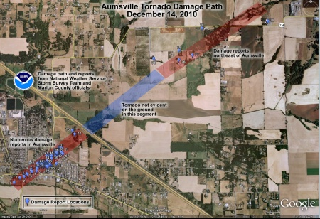 Aumsville Tornado_NWS-Damage_path