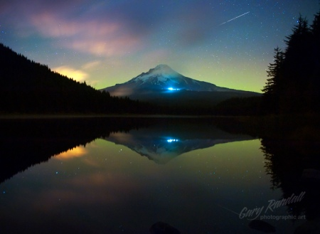 Northern Lights and Mt. Hood
