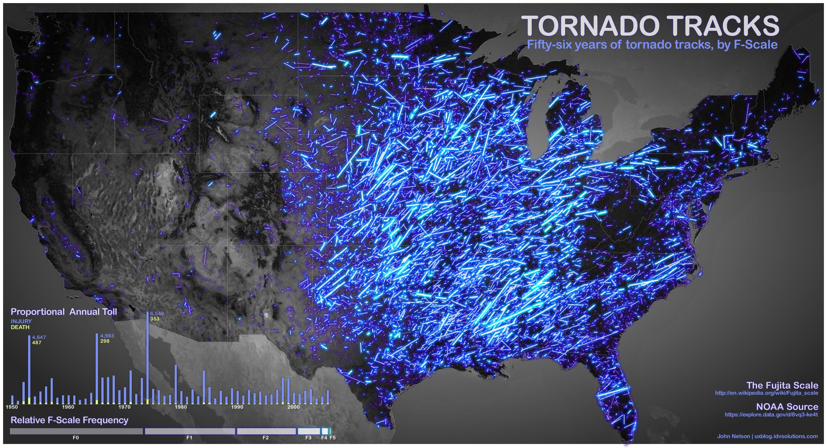 Neon Tornado Track Map FOX Weather Blog - Us tornado map