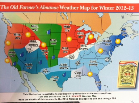 Farmers' Almanac 2013 Winter Weather