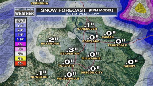 Sticking Snow Unlikely Metro Area Tonight (2/3)