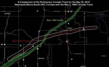 nws moor tornado paths