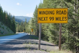 Winding Road Sign, Lolo Pass, Idaho