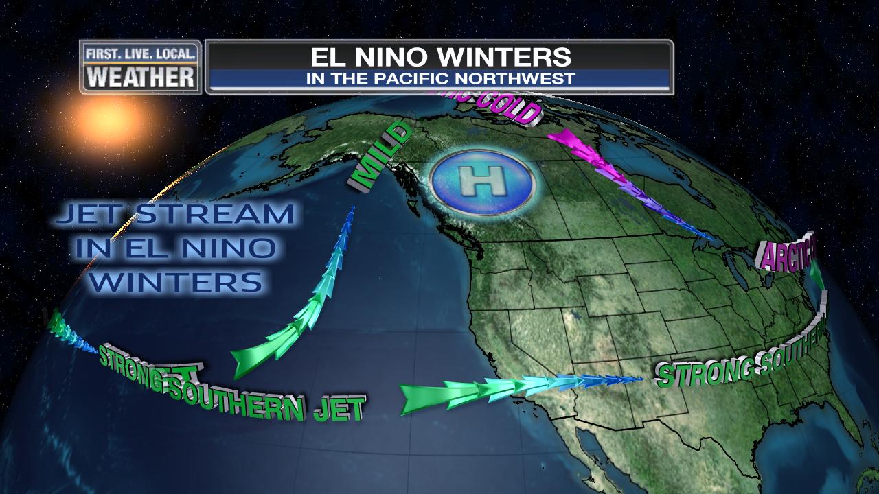WINTER  EL NINO FOX  Weather Blog - Us weather map with jet stream
