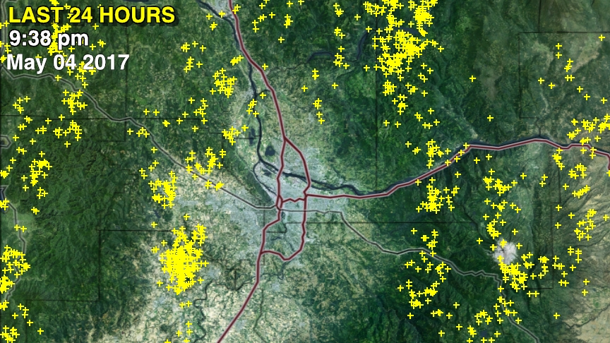 Lots of Thunderstorms But Big Storms Avoid Portland FOX 12