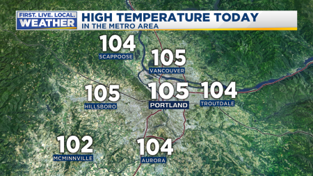 PDX Observed High Today