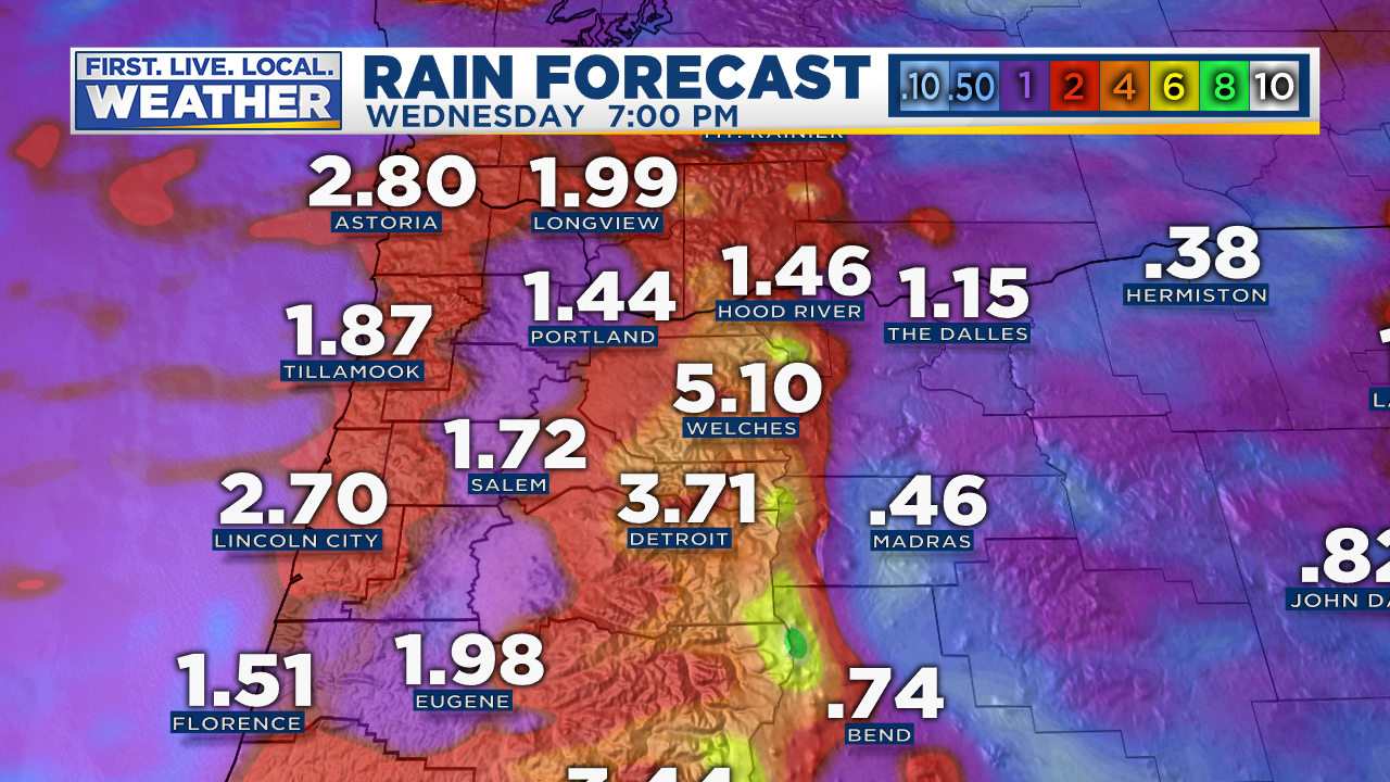 Even The Dry North Central Part Of Oregon Will Get Enough To Settle The Dust This May Be Our Wettest Week Since March For Sure The Wettest Since May