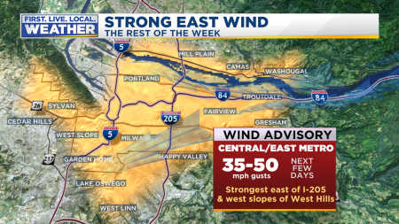 Warnings Gorge and Metro East Wind