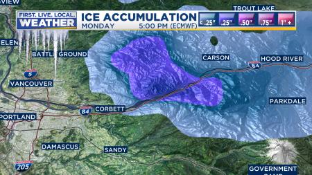 ECMWF Ice Accumulation