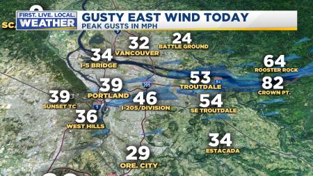 wind metro peak gusts east wind