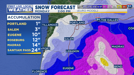 ECMWF Snow Accumulation